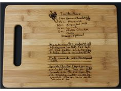 For a more sentimental gift, get a family recipe etched on this bamboo Personalized Laser Engraved Cutting Board ($30). #holiday #gifts