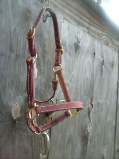 Leather Halter Double Stitched