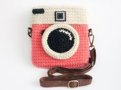 Crochet Diana Pink Purse Size 6 inch by meemanan on Etsy, $28.00