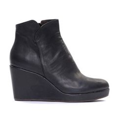 Haele Wedge Platform Bootie   by Coclico. I have these love them.