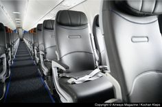 PHOTO TOUR: Inside JetBlue's Brand New Airbus A220-300   Airways Magazine Plane Seats, Car Seats, Kennedy Airport, Flights To London, New Aircraft, Aviation Industry, Fort Lauderdale, Product Launch, Tours