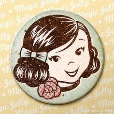 "Magic Girl drink coaster by Karena Colquhoun of ""Magic Jelly"""