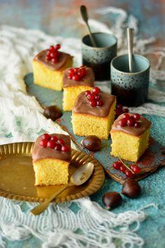 Fluffy Cornstarch Vanilla Squares with Chestnut Cream