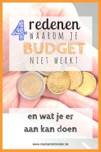 Je wil besparen, maar het lukt je niet? 4 redenen waarom je budget niet werkt en evenveel manieren om je te helpen binnen budget te blijven!
