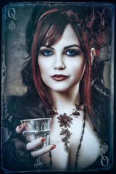 Queen of Spades Gothic Lady Victorian Goth, Gothic Steampunk, Steampunk Fashion, Gothic Fashion, Steampunk Cosplay, Gothic Mode, Dark Gothic, Gothic Art, Hot Goth Girls
