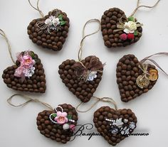 Diy Crafts - VK is the largest European social network with more than 100 million active users. Valentine Cards To Make, Valentines Diy, Diy Crafts For Gifts, Creative Crafts, Christmas Crafts For Kids, Christmas Diy, Coffee Bean Art, Seed Craft, Crochet Bookmark Pattern