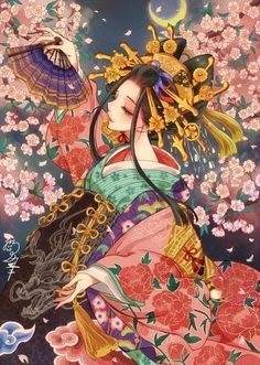 "Jibaku Shounen Hanako-kun FF ""Found you, First born of the Minamoto… Geisha Kunst, Geisha Art, Geisha Anime, Anime Kimono, Kawaii Anime Girl, Anime Art Girl, Anime Girls, Art Manga, Manga Anime"