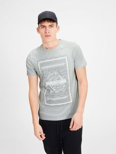 GRAPHIC T-SHIRT, Oyster Mushroom, large