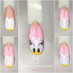 Summer nail art 700239442044302722 - Daisy Nails art étape par étape Source by venus_bella Nail Art Disney, Disney Acrylic Nails, Daisy Nail Art, Daisy Nails, Duck Nails, Mickey Nails, Nail Drawing, Image Nails, Animal Nail Art