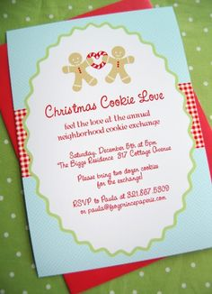 In party ideas for adults : Cookie Exchange Party Invitations by missysueb