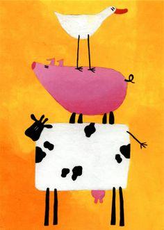 "The original Duck Cow Pig. ""Mad Animals"" by Rachel Deacon."