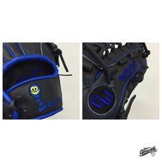 #Gloveworks x Captain Worm from Madonna University. Closer Look - Custom Logo on Wrist, Text on Lining, Text on Thumb.   Build your own glove at Gloveworks.net #Baseball #BaseballGlove #CustomGlove #CustomMitt