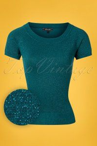 Women/'s Black Vintage Retro 50s Boat neck Oonagh Basic Top Blouse Banned Apparel