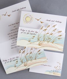 ocean view wedding invitations