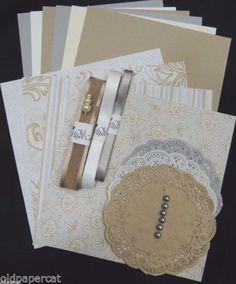Stampin-Up-WILD-ROSE-WEDDING-ROSE-CARD-KIT-of-6-Paper-Ribbon-Embellis-HH87