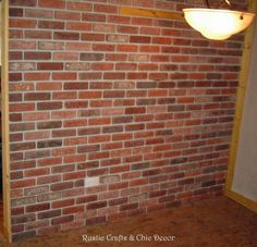 How To Install An Interior Brick Wall