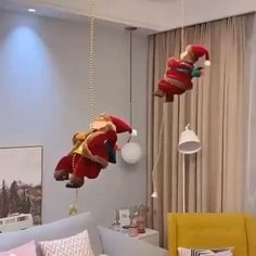 — Embrace the spirit of Christmas with Santa Claus! Watch him climb up and down a 3-foot chain while playing music! — Hang it from a Christmas tree, stairwell, or over an unlit fireplace! Now available 70%OFF with Free Shipping!! Only on neulons.com