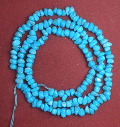 "Sleeping Beauty Turquoise Loose Small Pebble Gemstone Beads Blue 18"" Std  # 604 #SleepingBeauty #Southwest Turquoise Necklace, Beaded Necklace, Amber Ring, Sleeping Beauty Turquoise, Blue Beads, Gemstone Beads, Gemstones, Jewelry, Beaded Collar"