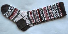 Scandinavian pattern rustic winter autumn fall knit knee-high grey white red wool socks CUSTOM MADE Crochet Cross, Knit Crochet, Fall Knitting, Scandinavian Pattern, Wool Socks, Fall Winter, Winter Holidays, Bunt, Grey And White