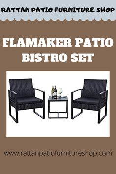 The powder coated steel frame are rust-proof and high-quality hand woven weather-resistant PE wicker won't fade. Rattan Furniture, Outdoor Furniture Sets, Outdoor Decor, Bistro Set, Chair Cushions, Steel Frame, Decorating Your Home, Rust, Wicker