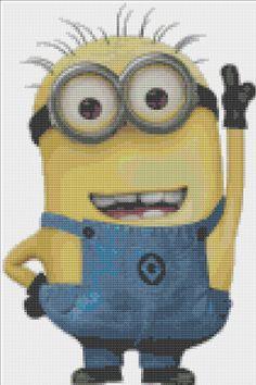 Despicable Me Minion Cross Stitch Pattern