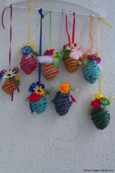 MK. IDEAS - Easter eggs from newspaper tubules. - Пасхальные яйца из газетных трубочек. Идеи и мастер-класс (11) (466x700, 249Kb)