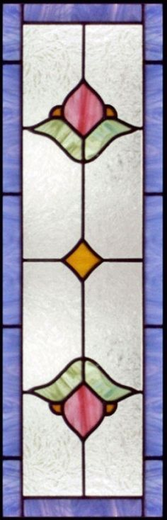"stained+glass+patterns+for+sidelights | VIC13S"" STAINED AND LEADED GLASS VICTORIAN STYLE VERTICAL"
