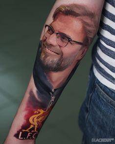 Club Liverpool by Liverpool Tattoo, Liverpool Fc, Trash Polka, Tattoo Studio, Lfc Tattoo, Juergen Klopp, Strong Tattoos, Blackout Tattoo, Hyperrealism