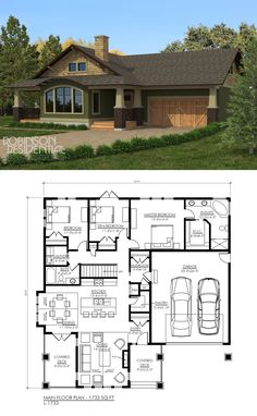 1733 sq. ft, 2 bedrooms, 2 bath.