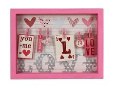 shadow box paper craft with clothespins | Crafts Direct Blog: 14 days of love - Clothespin Shadow Box.