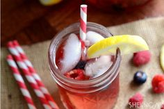 'Rose, Moscato and Mixed Berry Sangria' via '3 Unique Sangria Recipes' by Claire Gallam at SheKnows.com. Two more recipes @ source   Ingredients: rose, moscato, blueberries, strawberries, raspberries, pear, honey, sweet fruit wine, cranberry juice, (optional) seltzer