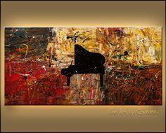 """""""The Grand Finale"""" Original Music Piano Art - www.carmenguedez.com"""