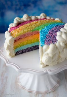Sateenkaarikakku | Kinuskikissa - Suomen suosituin leivontayhteisö Unicorn Foods, Cookie Decorating, Decorating Ideas, No Bake Cake, Vanilla Cake, Good Food, Fun Food, Party Time, Delicious Desserts