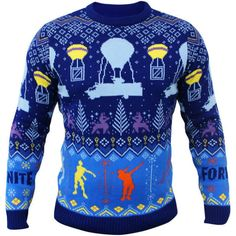 Fortnite Christmas Jumper Battle Royale Floss dance new Official Gamer Blue Size Knitted Christmas Jumpers, Christmas Knitting, Ugly Christmas Sweater, Pullover, Sweatshirt, Winter Jumpers, Battle Royale, Personalized Shirts, Unisex