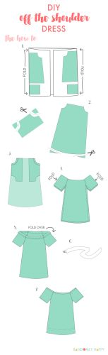 Super easy DIY off the shoulder dress pattern and tutorial. Possibly the most perfect summer dress ever | Randomly Happy
