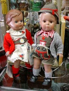 German Boy & Girl.....made out of Tortoise Shell