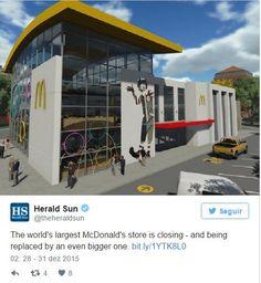 Maior McDonald's do mundo fecha para ficar ainda maior