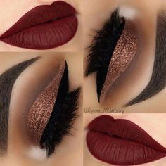 #eyemakeups Matte Lipsticks, Makeup Lipstick, Bold Lip Makeup, Best Matte Lipstick, Bold Makeup Looks, Cute Makeup, Prom Makeup, Matte Lipstick Shades, Cheap Lipstick