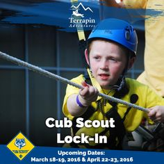 This adventure is perfect for the younger explorer! We will be traversing our brand new Explorer kids course, followed by crafts, s'mores, and pizza!   Call 301-725-1313  #CubScouts #Scouting