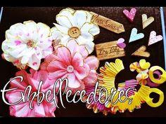 Embellecedores Para Scrapbook Reciclados (1) - Nena Spacial - YouTube