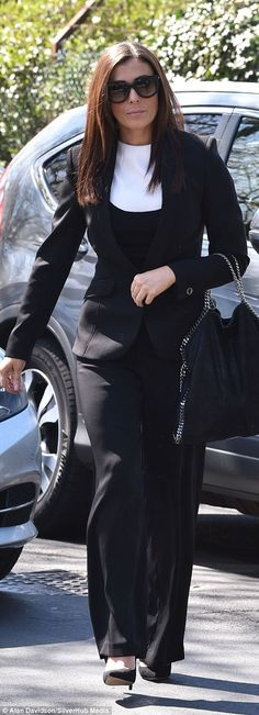 Big circle of friends: Danniella Westbrook, another CBB co-star, and Coronation Street actress Kym Marsh looked smart in grey and black Curvy Women Outfits, Clothes For Women, Danniella Westbrook, Denise Welch, Kym Marsh, Coronation Street, Reality Tv, Funeral, Daughter