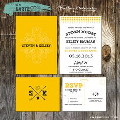 Hey, I found this really awesome Etsy listing at http://www.etsy.com/listing/107620728/lemon-zest-yellow-wedding-invitation-and