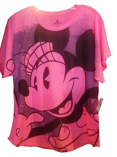 minnie mouse adult shirt   Disney Shirt for Women - Minnie Mouse Photograph Tee - Neon Pink