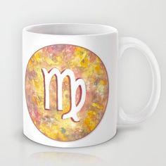 """Zodiac sign : Virgo"" Mug by Savousepate on Society6 #mug #virgo #astrology #astrologicalsign #zodiacsign #white #yellow #pink #orange"