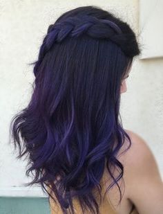 Do you want dark purple hair color? We have pictures of Amazing Dark Purple Hair Color Ideas that will inspire the purple diva in you! Long Purple Hair, Dark Purple Hair Color, Gorgeous Hair Color, Unique Hair Color, Hidden Hair Color, Bold Hair Color, Purple Lilac, Dark Blue, Color Black