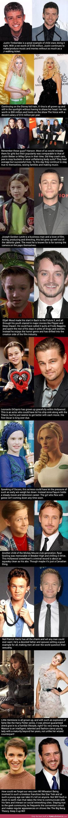Child stars who didn't give in to the destructive side of fame