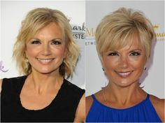 Teryl-Rothery-hairstyles.png - Getty Images: Angela Weiss (l) and Tibrina Hobson (r)