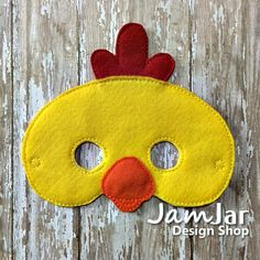 CHICKEN Children's Animal MASKS  Pretend play Dress Up for Children Toddlers Preschool Kindergarten - EASTER Chicken Barnyard Animal Mask