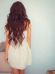 Beautiful dark auburn waves! My hair is going to look like this!!