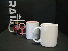Standard #mugs for #sublimation and #CLC in many shapes and colours
